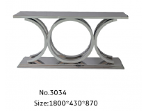 stainless steel console table